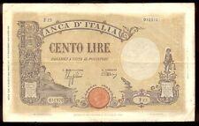 riotis 4585: ITALY 100 LIRE BANCA D' ITALIA 1943 VERY FINE,  P-67