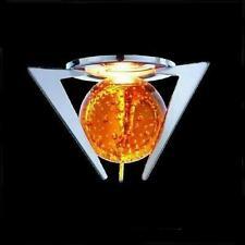 Glas Einbaustrahler Kugel gelb bernstein Einbauspot Glaskugel Spot Strahler