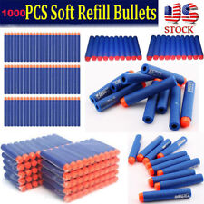 1000PCS soft Gun Refill Bullets Darts for Nerf N-strike Elite Series Blasters US
