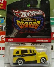 HOT WHEELS REAL RIDERS 1:64 LARRY'S GARAGE SCHOOL BUS 10/39, R3773