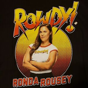 WWE Ronda Rousey T-Shirt Large Rowdy Pro Wrestling MMA Fighter NWT
