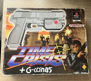 Sony PlayStation 1 One Games Time Crisis Boxed With G-con 45 Lightgun & Cables