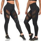 Fashion Womens Mesh Panels Stretchy Workout Sports Gym Yoga Long Leggings Pants