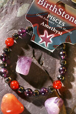 'PISCES' Gemstone 'Power Bracelet' plus a free guide book & bookmark.