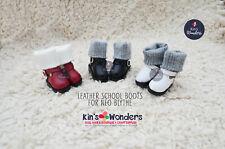 Blythe Shoes, Pretty School Boots for Pullip, BJD, Licca Azone Jerryberry Momoko