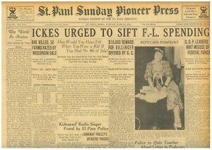 JOHN DILLINGER - U.S. OFFERS $10,000. $5000 FOR BABY FACE NELSON. 6-JUNE 24 1934
