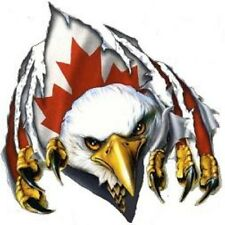 EAGLE WITH CANADIAN FLAG BUMPER STICKER TOOLBOX STICKER LAPTOP STICKER