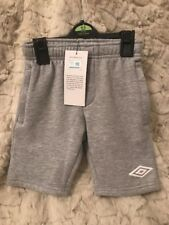 Boys Umbro Sport Shorts/ Trackie Style , Zip Pockets Inner Draw String Age 4-5Y