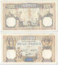 GB570 - Banknote Frankreich 1000 Francs 1939 Pick90c RAR France