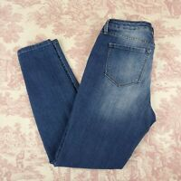 Nine West Gramercy Skinny Ankle Jeans Size Missy 4 Faded Blue Stretch