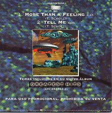 "BOSTON ""MORE THAN A FEELING+ TELL ME (UNRELEASED TRACK)"" SPANISH PROMO CD SINGLE"