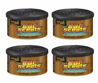 4 Pack of California Scents Capistrano Coconut Car & Home Air Freshener Can Tin