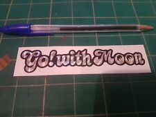 Mooneyes GO WITH MOON Metallic Sticker (Small) Roth Hot Rod Retro Vintage VW Bug