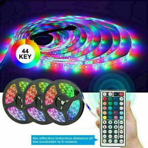 5/10M/15M RGB LED STRIP LIGHTS COLOUR CHANGING FLEXBILE TAPE LIGHTING SMD3528 UK