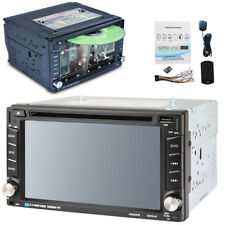 """Bluetooth HD In Dash Car CD DVD Player Stereo FM Radio 6.2"""" Double DIN GPS Maps"""