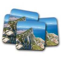 4 Set - Rock of Gibraltar Coaster - Travel Ocean Sea Holiday Cool Gift #12550