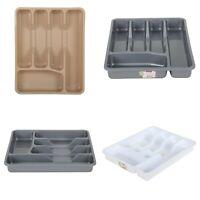 Cutlery Tray Holder. 5 Compartment. Plastic Drawer Cutlery Organiser. BPA Free.