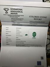 IGI Certified Natural Green Zambian Emerald 2.39 Ct Size 10.07 7.90 4.84 Mm