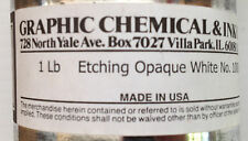 Graphic Chemical & Ink Co. Etching Opaque White No, 1000C 1lb Can