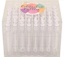 48 White Heart Tubes Celebration Bubbles Wedding Favours Party Table Supplies