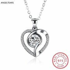 Advanced crystal 925 Sterling silver jewelry wholesale Heart pendant necklace