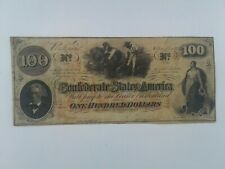 T-41 Xf+ $100 Slaves Hoeing Cotton Confederate States of America Note Sn # 10525