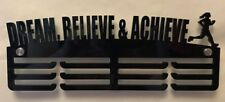 5mm Thick Acrylic 3 Tier DREAM BELIEVE & ACHIEVE FEMALE RUNNER Medal Hanger
