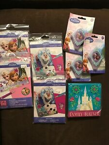 🔥Huge Lot DISNEY FROZEN 16 INVITATIONS, 16 Thank You, 3 Bday Candle, 16 Napkins