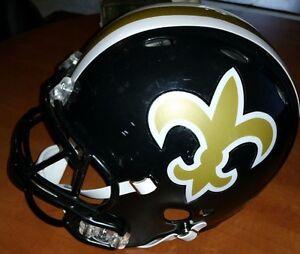 New Orleans Saints 1969 NFL Throwback Style Riddell Revolution Black HELMET