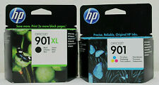 HP 901XL Black + HP 901 Colour Original Deskjet Officejet Ink Cartridges 2021