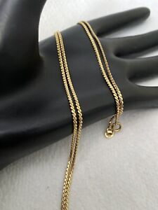 "18K Gold Serpentine S Link Chain Necklace ~8.4 Grams~ 23"" Long 1.5mm"