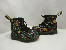 Dr. Martens Brooklee Multi Color Floral Zip Lace Boots Toddler Size 7