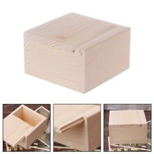 Handmade Jewelry Storage Box Wood Plain Candy Case Ring Organizer Crafts Case