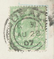 "GB ""DEAL / +"" double ring 26 mm extremely rare probably UNIQUE POSTMARK-ERROR"