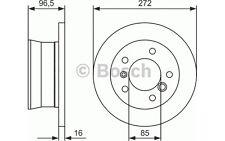 BOSCH Juego de 2 discos freno 272mm VOLKSWAGEN LT MERCEDES-BENZ 0 986 478 433