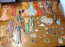 Vintage Paper Dolls marked the Debby Dolls- Susanne & Suzette, 1930's These are