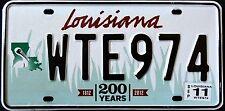 "LOUISIANA "" WILDLIFE PELICAN 200 YEARS BICENTENNIAL "" LA Graphic License Plate"