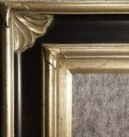 """4.75"""" WIDE Silver and Black Ornate Oil Painting Wood Picture Frame 278BPS"""