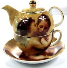 Tea FOR ONE TEIERA (Teiera Tazza & Piattino Set) LA REGINA ISABELLA bacio angeli