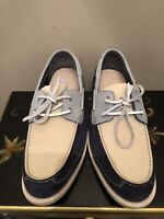 Cole Haan Yacht Club C08486 Slip-On Loafers Boat Shoes Men's 12 Light/Dark Blue