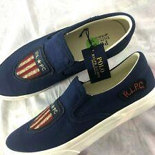 Polo Ralph Lauren Thompson USA Flag Shield Men's Size 9.5 R.L.P.C. Shoes NEW