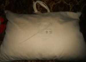 New Coyuchi Queen Organic White Shredded Latex Pillow