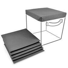 Sorbus Foldable Storage Cube Basket Bin Covers, Grey - 6Pk