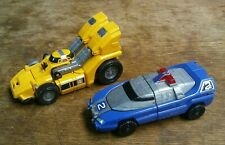 POWER RANGERS 1997 TURBO RESCUE MEGAZORD VEHICLES #2 BLUE SIREN & #4 YELLOW STAR