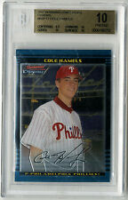 2002 Bowman Chrome Prospects Cole Hamels Rookie Card BGS 10 PRISTINE Phillies