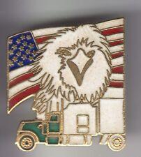 RARE PINS PIN'S .. CAMION TRUCK WAGEN USA AIGLE EAGLE AMERIQUE DRAPEAU FLAG ~DV