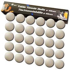 30 Tischtennis Bälle 40mm Ø weiß Tischtennisball 30x PingPong Ball Table Tennis