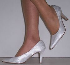 Women's Satin Bridal or Wedding High Heel (3-4.5 in.) Shoes