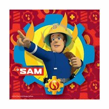 20 Pièces Sam le Pompier Serviettes de Lunch 33cm Fête D'Anniversaire Vaisselle