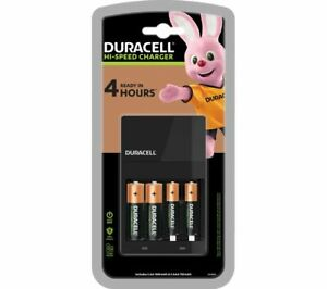 DURACELL CEF14 4-Battery Charger with Batteries - Currys